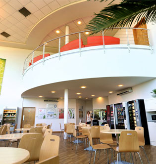 Dining Area in EON Rotherham Office Building