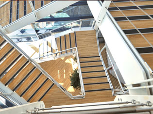 Birdseye View of Stairs in EON Rotherham Office Building