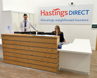 Reception Area at Hastings Direct Leicester Office Building