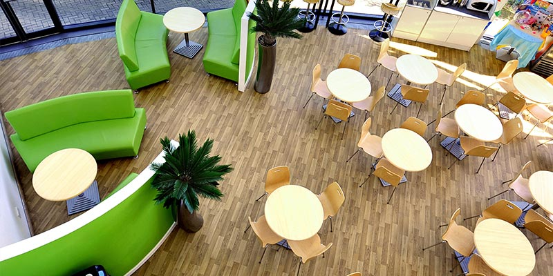 Dining and Meeting Area in EON Rotherham Office Building