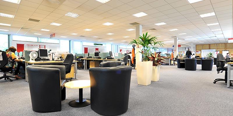 Interior Office Floor-Space in EON Rotherham Office Building
