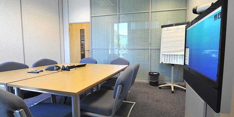 Empty Meeting Room in EON Rotherham Office Building