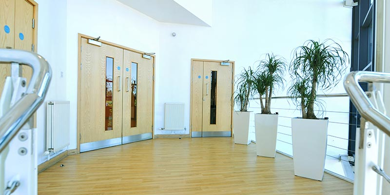Doors to Offices in EON Rotherham Office Building