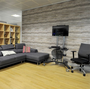 Seating Area at Sky Leeds Office Building