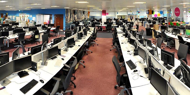 Work Stations at Sky Leeds Office Building