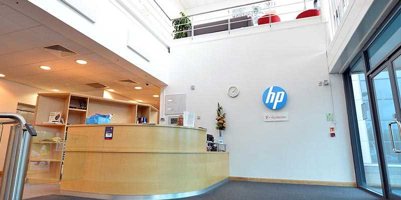 Entrance to HP Enterprise Nottingham Office Building