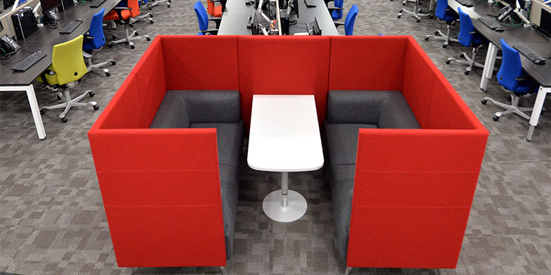 Shared Seating Area at Hastings Direct Leicester Office Building